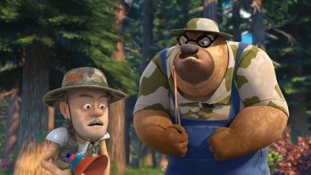 熊出没:熊二当光头强学徒,竟连肚子疼也跟着学!