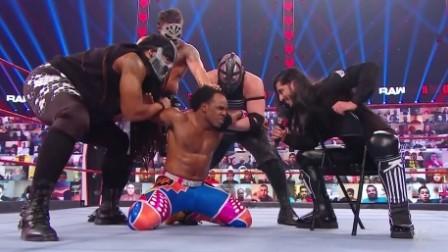WWE RAW1444期回放:痛扁企业车轮战对垒光脚哥 小魔女遭兰迪RKO