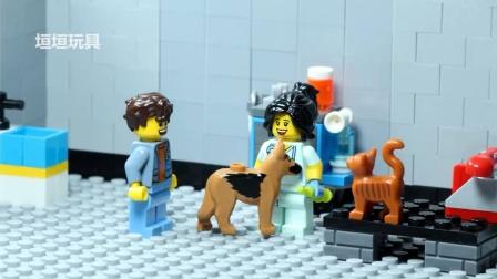 乐高市 兽医 保存一只小狗