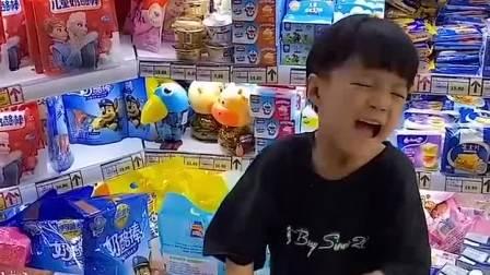 童年趣事:妈妈我想要这袋零食