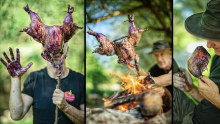 整鸡放在柴火上烧烤,只为独特口味,能忍住口水吗?