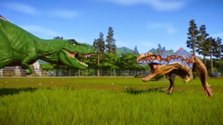 侏罗纪世界:嘻哈皮肤的恐龙,能战胜雷克斯霸王龙吗
