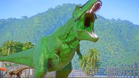 侏罗纪世界:霸王龙的家园迎来一批新的恐龙,好戏马上上演