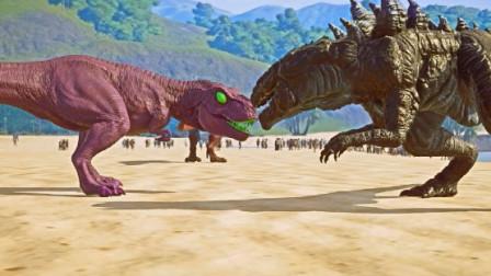 侏罗纪世界:霸王龙两眼绿光,是中了毒液的毒了吗