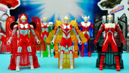 咸蛋超人玩具:5款超人变形战车套装