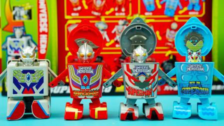 奥特曼变形玩具:5款杯面变超人套装