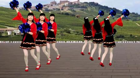 广场舞《祖国你好》歌声大气悠扬,正背面更好学