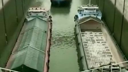 广西的船过闸,像赶鸭子上架,这是什么操作
