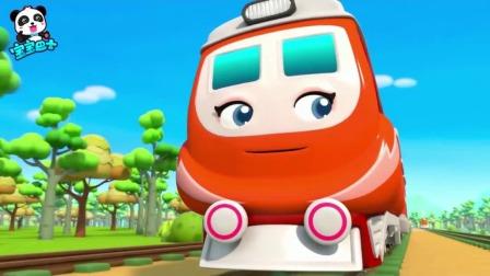 儿童漫画:电力火车想跑过高速火车结局