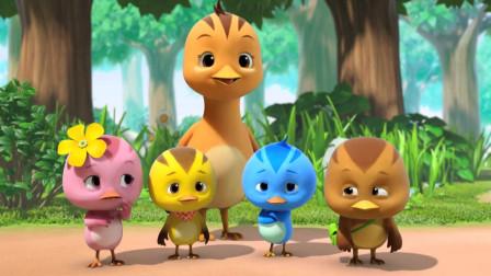 萌鸡小队:萌鸡们帮刺猬宝宝,吹了大气球,刺猬宝宝喜欢极了!