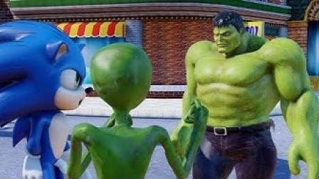 动画:绿巨人VS索尼克和小绿怪