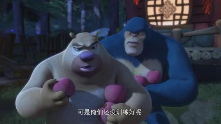 熊出没:光头强化身武器专家,利用新武器打败无敌怪兽和天才威!