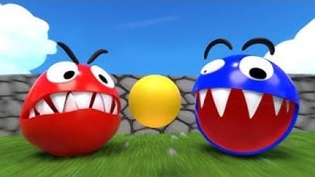动画:红色吃豆人VS蓝色吃豆人