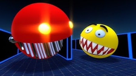 动画:当吃豆人遇到怪物吃豆人