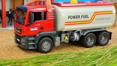 汽车玩具故事:太棒了!在牧场里工作的工程车你都认识哪些?