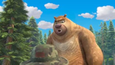 """熊出没:熊二也想表演""""黄金甲"""",光头强同意了"""