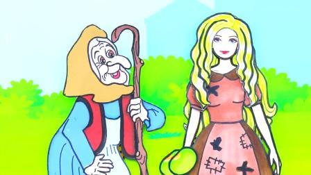 纸娃娃装扮:灰姑娘试穿连衣裙手工制作,芭比的故事!