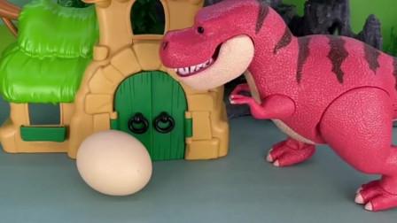 大家出来找吃的,看见恐龙蛋,可是大家都不敢吃