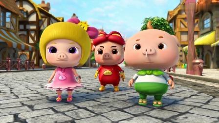 猪猪侠:菲菲拿起了钟,把鸡蛋变成了鸡!