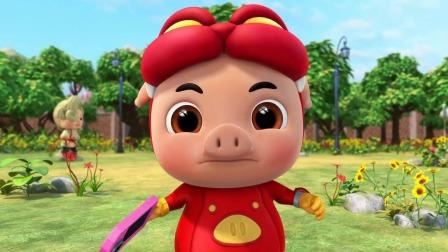 猪猪侠:小猪猪想找喷泉,被女孩拦下,结果小猪猪误会了!