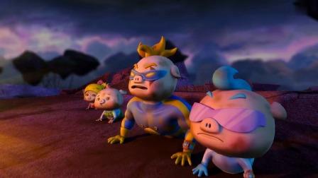猪猪侠:猪猪侠看到果冻怪惨死,彻底激怒了他,再次变身!