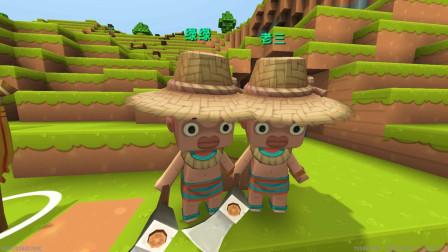 小路迷你世界生存9:农夫看着水稻不收割,脑子不知道在想什么