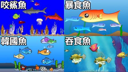 【大鱼吃小鱼】总有一款你玩过!吃到破坏生态系平衡啦 Shark!  Fishy 꼬기꼬기