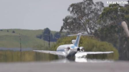 航模涡喷波音727飞行影片
