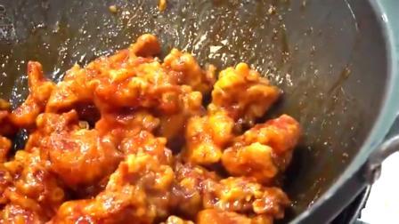 韩国人的甜辣炸鸡块