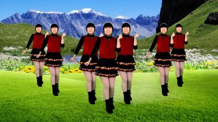 广场舞《过河》歌曲欢快喜庆,简单好看又好学