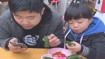 金色的童年:小黄瓜好吃吗