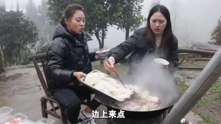 农村秋妹和姐姐在家涮羊肉,一个人吃12盒,这败家媳妇谁养得起?