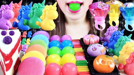 彩虹色甜品,深受吃货青睐,带来奇妙美食体验
