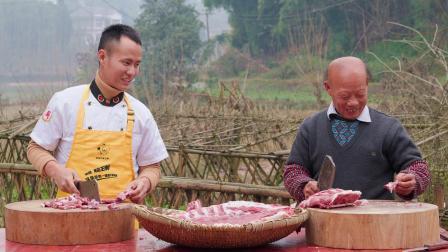 响应号召不聚餐,厨师长用40斤宽油制作年菜送给同事