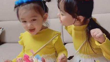 妹妹过生日姐姐乐开了花感觉像是姐姐在过生日