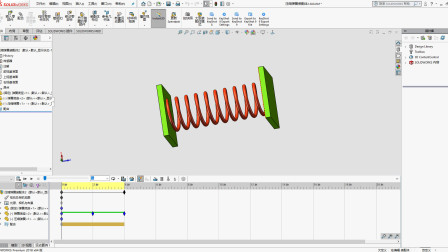 可变形的弹簧动画,用SolidWorks制作其实很简单!