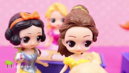 艾莎老师变身艾莎公主,使用冰魔法