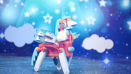 儿童益智玩具:拼搭独角兽小飞猪积木玩具