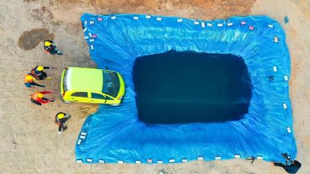 """把汽车开下水是""""游泳""""还是下沉?老外豪气实验,结果大开眼界!"""