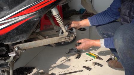 摩托车大小链轮安装需要注意什么?怎么安装行驶中链条不容易掉?