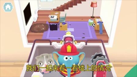 熊猫消防队:小猴子真是厉害!