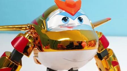 超级飞侠第9季 金小子变形机器人玩具分享