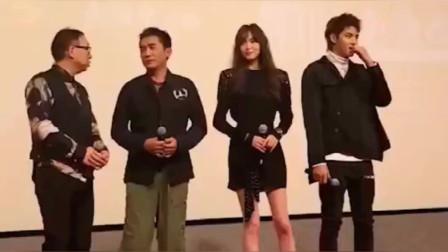 唐嫣这次和吴亦凡比身高,看起来差不多