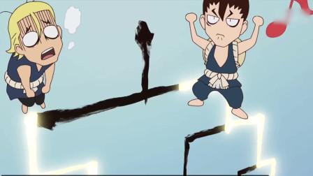 石纪元,天才少年千空发明凸透镜,汇聚太阳光打败对手!