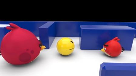 动画:吃豆人吃掉愤怒的小鸟,家长找来算账了
