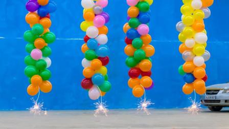 """气球被""""点燃""""后,到底有多美?场景太魔幻了!"""
