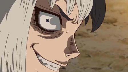石纪元,天才少年千空,为金狼制作出一副眼镜增强战斗力!