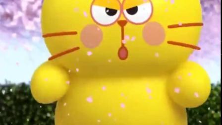蛋黄喵:樱花开了,心情不错跳个舞