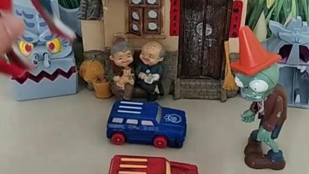 僵尸把小强强和熊大熊二关在小汽车里了