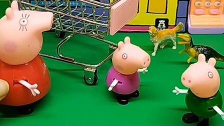 乔治看见弟弟坐着婴儿车,自己也要坐,佩奇教育他已经长大了